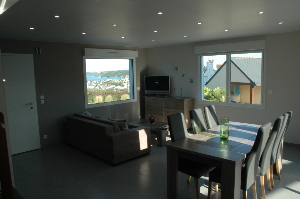 Gwel Meur - salon-séjour - Vue Mer